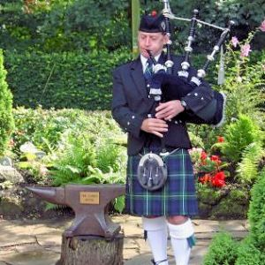 Bagpiper in South Wales
